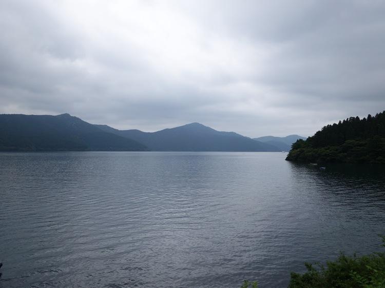 箱根箱根 御番所茶屋から見る芦ノ湖の景色
