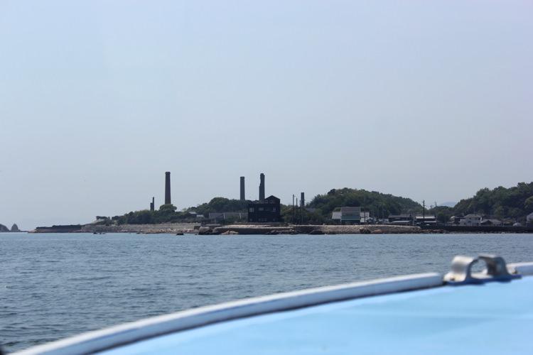 船からみた犬島