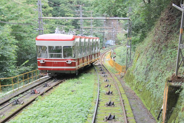 高野山ケーブルカーからの景色