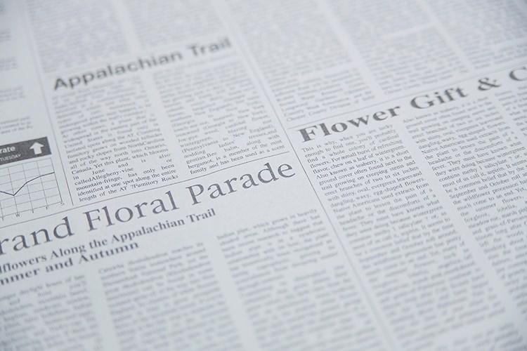 英語の新聞