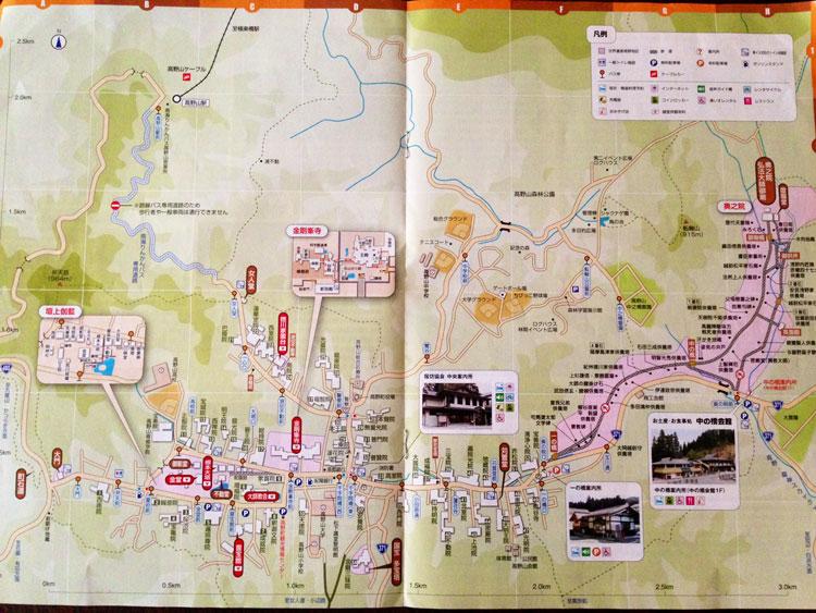 高野山のマップ