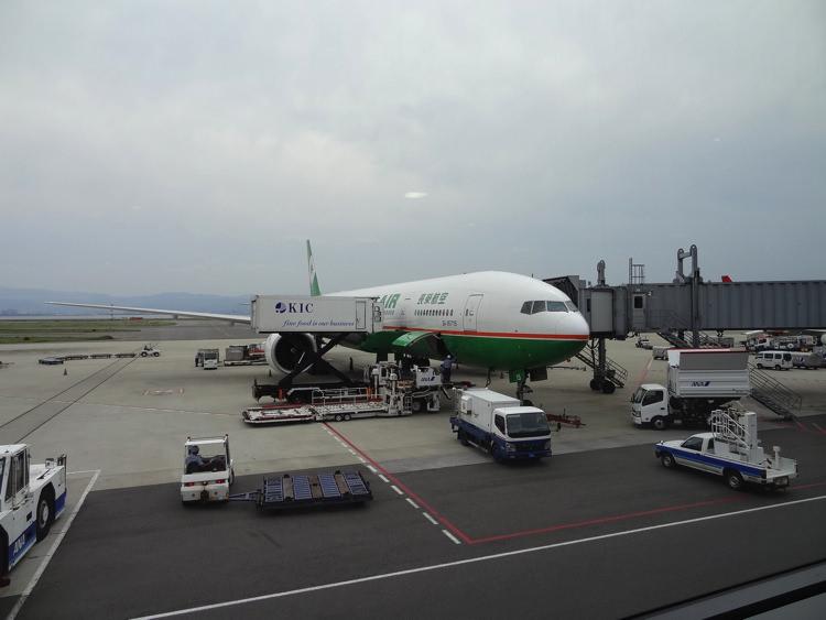 台湾へ向かう飛行機