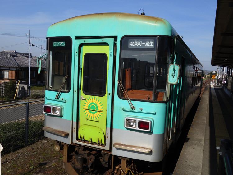 粟生駅に停まってた北条鉄道