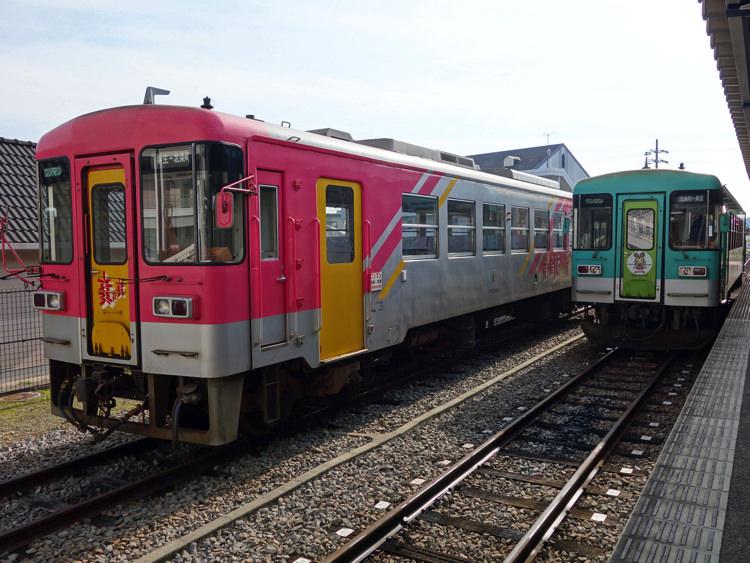 北条町駅に停まってた北条鉄道
