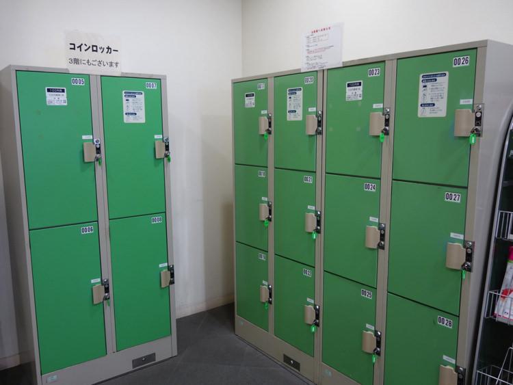松山城ロープウェイ乗り場コインロッカー