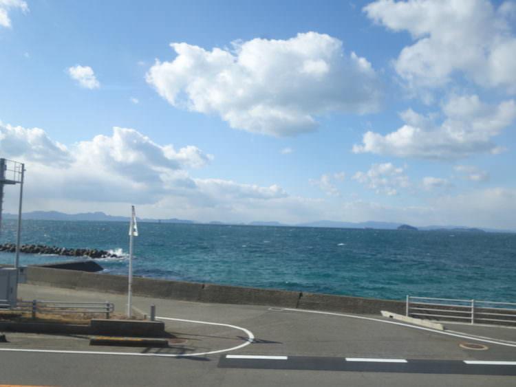 松山周辺 電車からの景色
