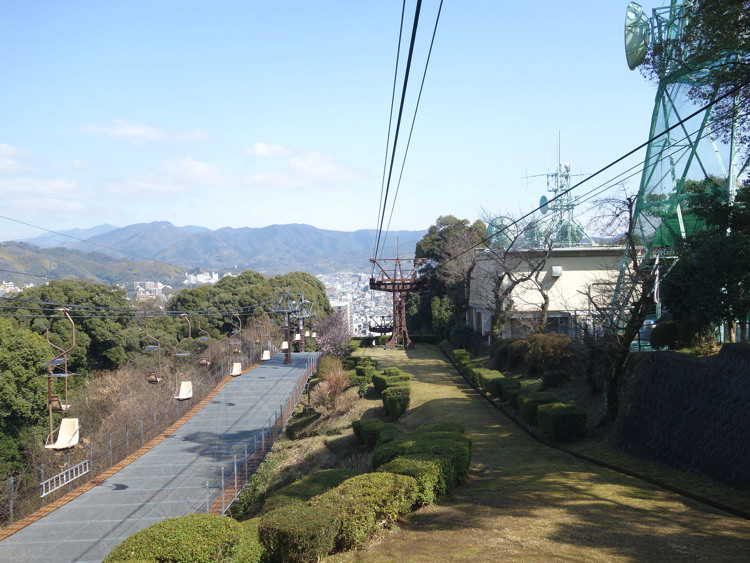 松山城ロープウェイから見える景色