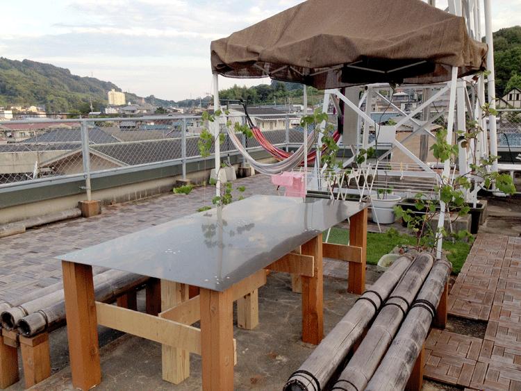 泉ゲストハウス 屋上