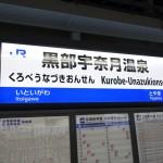 黒部宇奈月温泉から新高岡駅まで北陸新幹線を利用した話