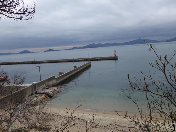 男木島 加茂神社から見る海の景色