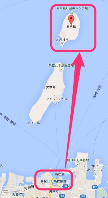 男木島の位置
