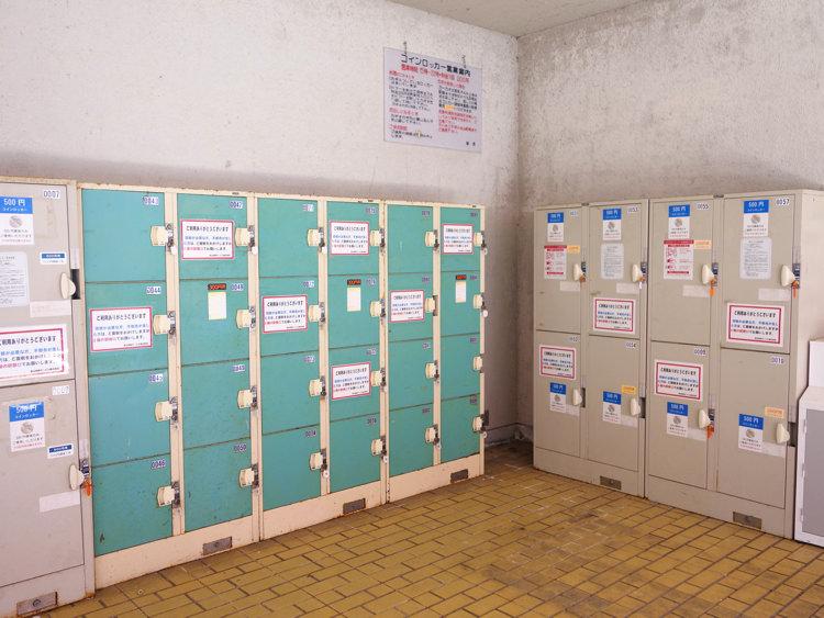 宇奈月温泉駅近くのコインロッカー
