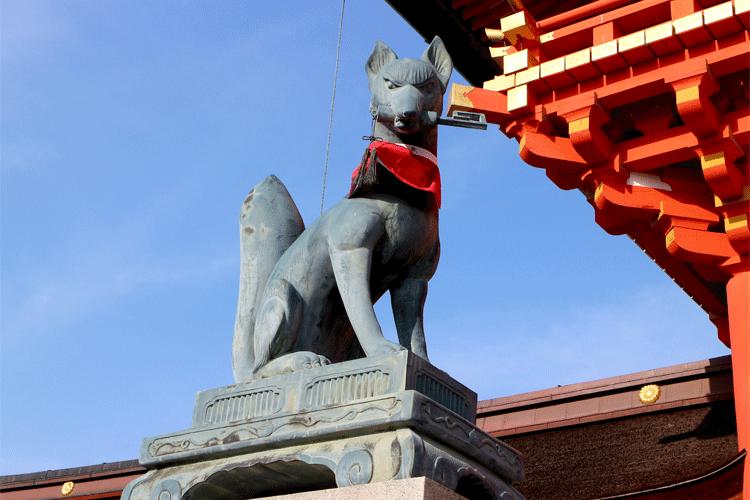 伏見稲荷神社 きつね左