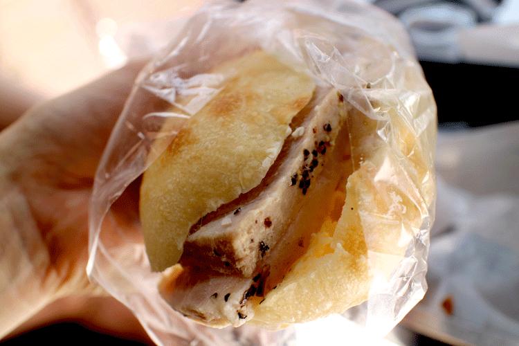 ル・プチメック ローストポークのサンドイッチ