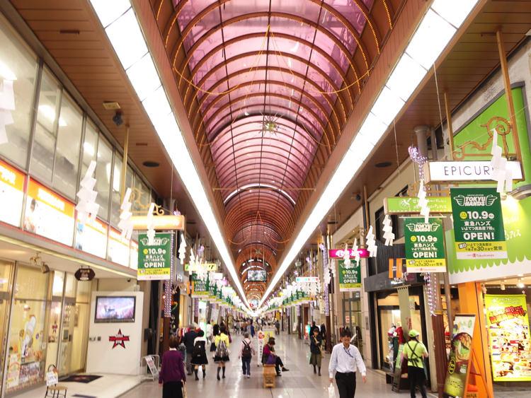 松山の大街道商店街