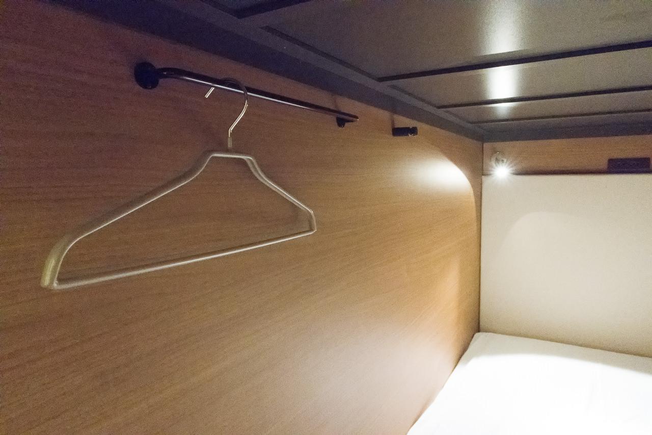 グリッズ秋葉原の寝室のハンガー