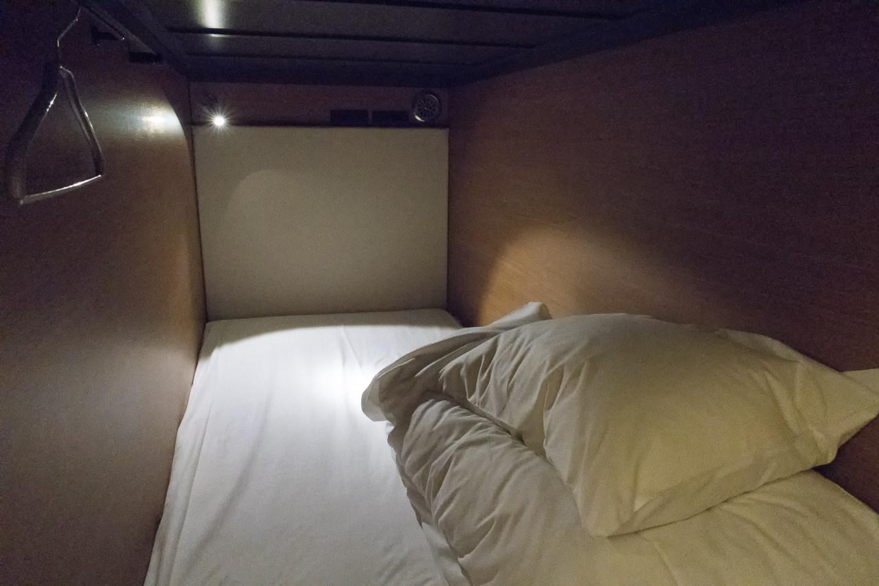 グリッズ秋葉原のベッドの様子