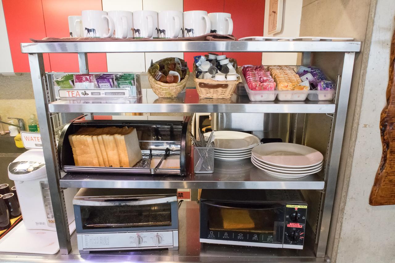 サクラホステル浅草の朝食のパン