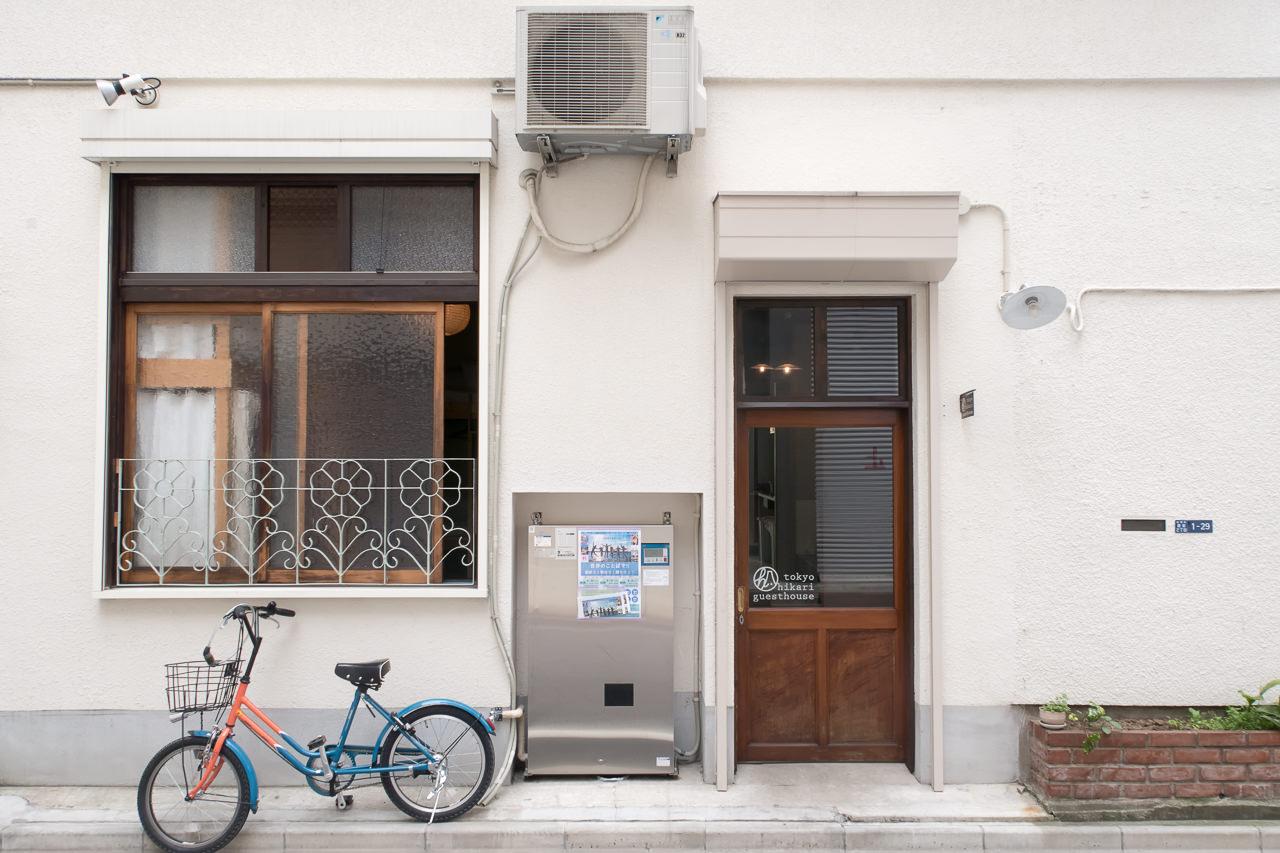 東京ひかりゲストハウス正面玄関