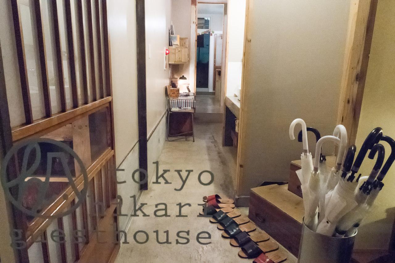 東京ひかりゲストハウス玄関の様子