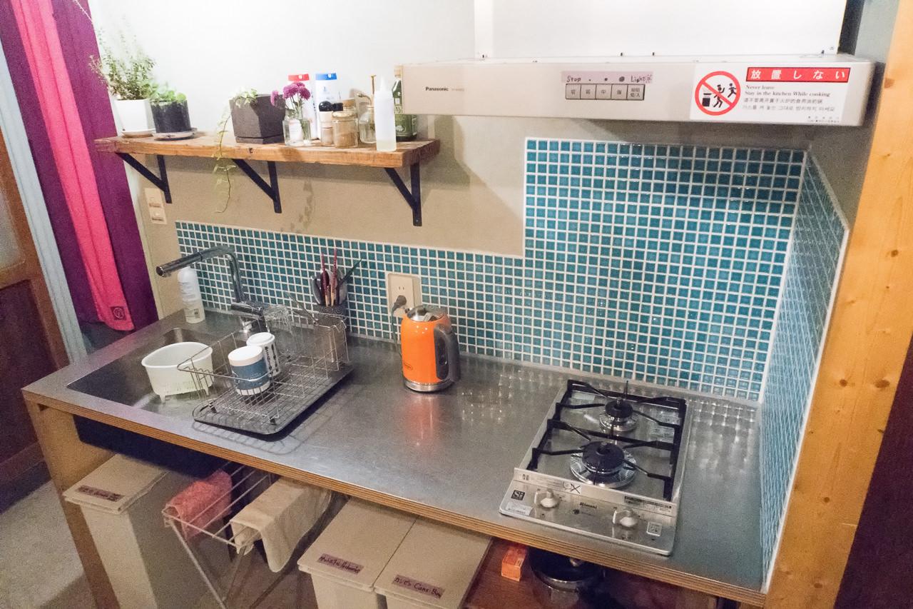 東京ひかりゲストハウスのキッチン