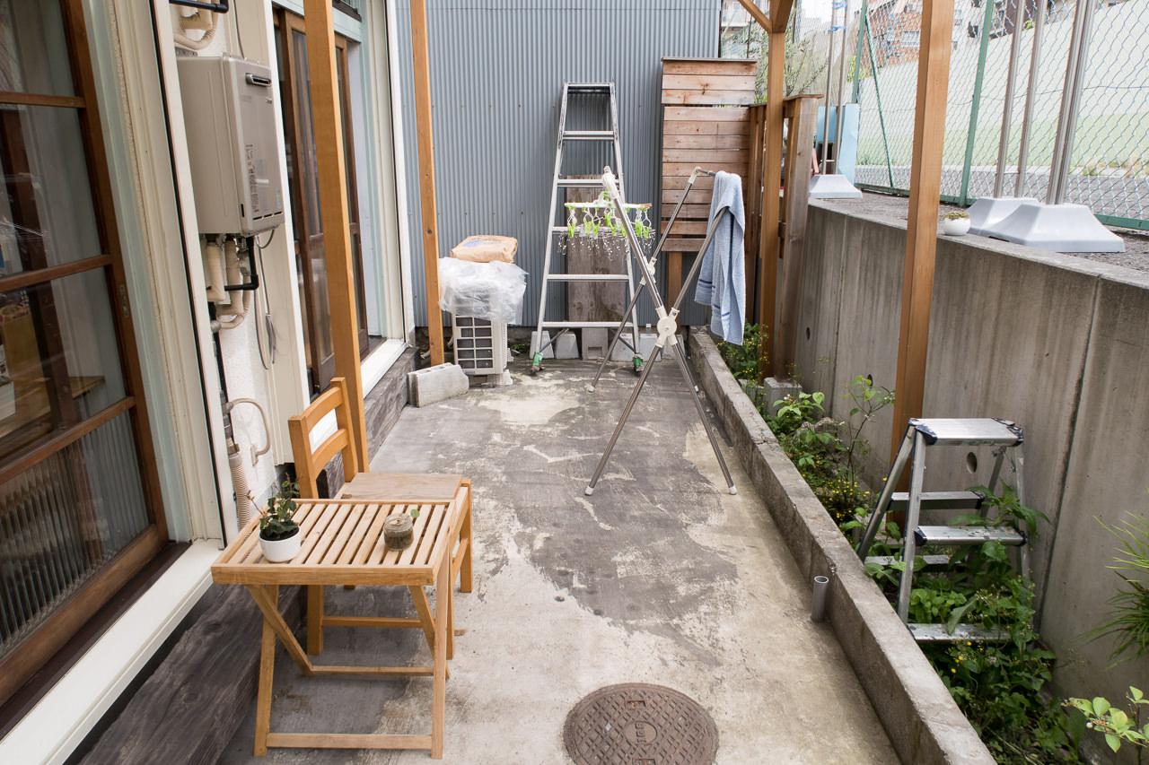 東京ひかりゲストハウスの庭