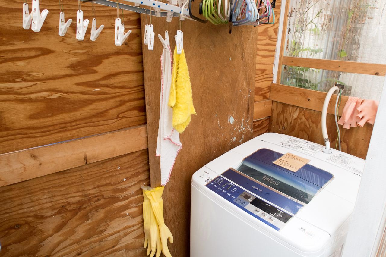 東京ひかりゲストハウスの洗濯機アップ