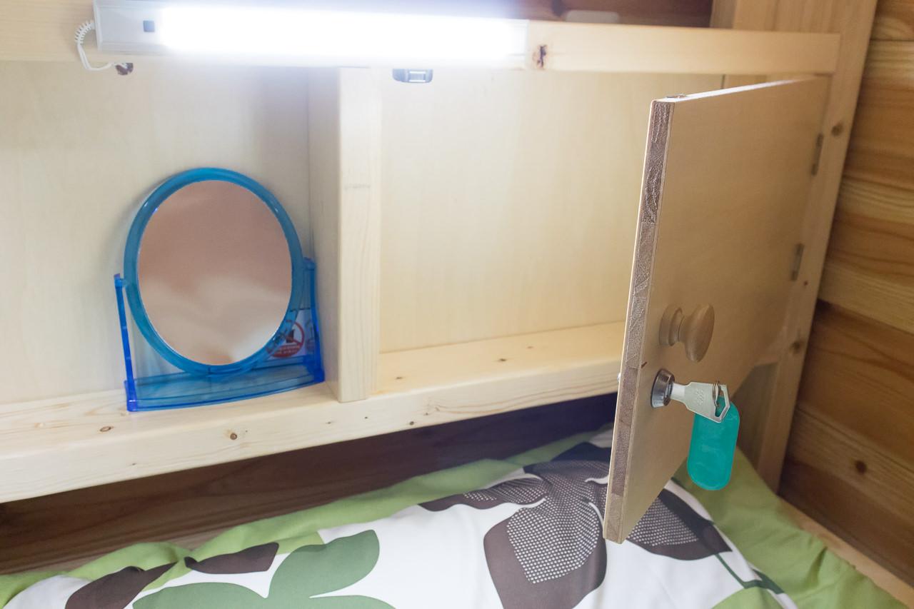 函館ゲストハウスApple貴重品ロッカー
