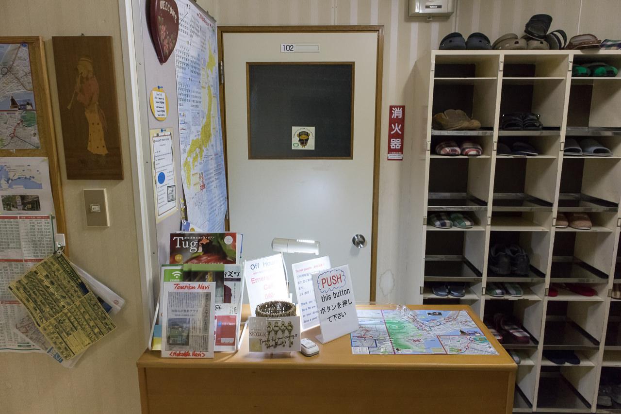 函館ペリーハウスの受付
