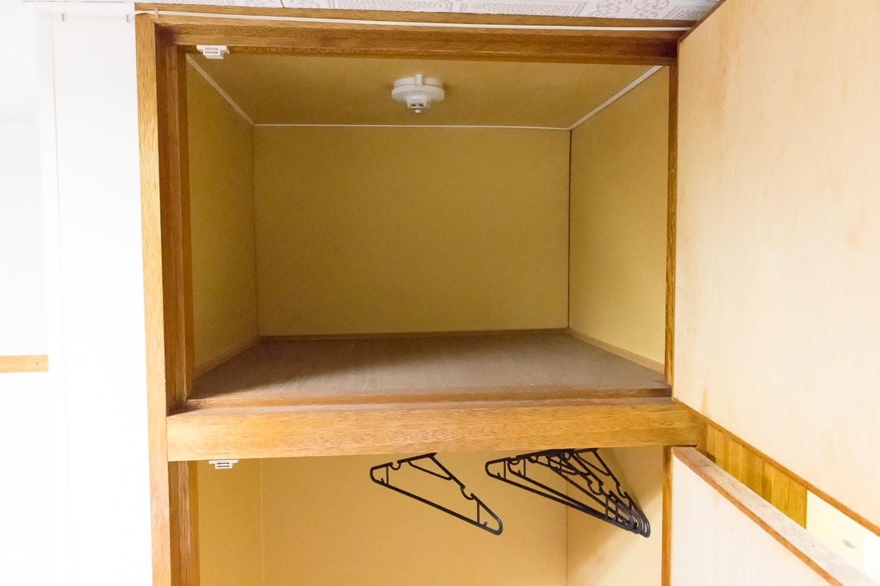 函館ペリーハウス部屋の収納スペース上部