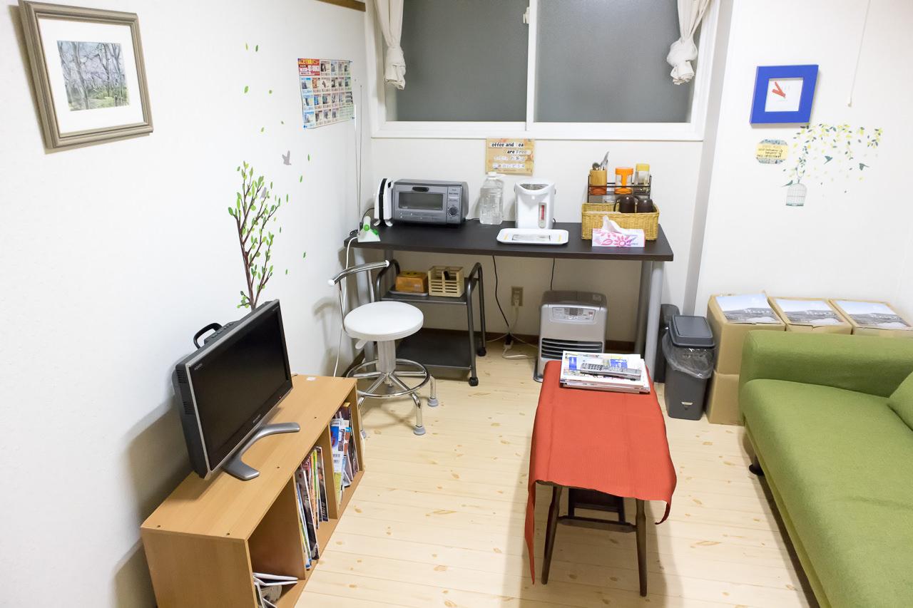 函館ペリーハウスの1階フリースペース全景