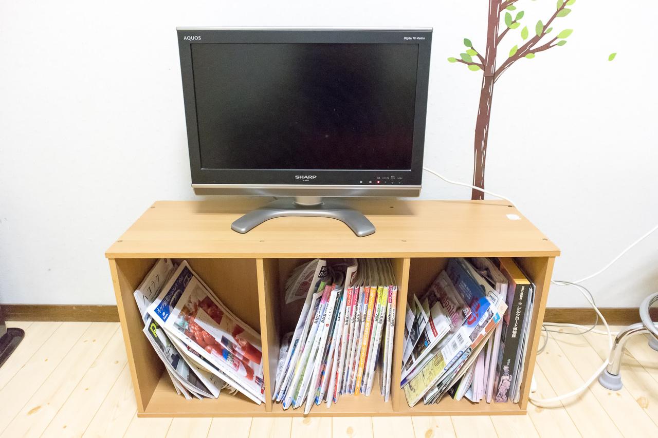 函館ペリーハウスのフリースペースのテレビ
