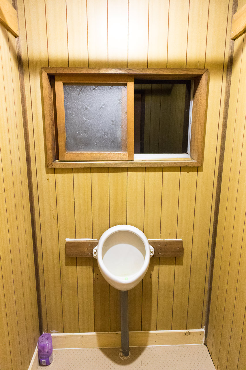 函館ゲストハウスの小便器