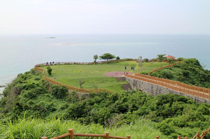 知念岬からの景色