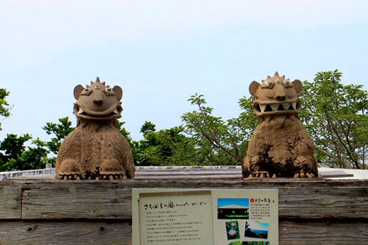浜辺の茶屋 シーサー