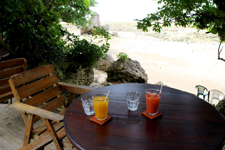 浜辺の茶屋 海を眺めらる席