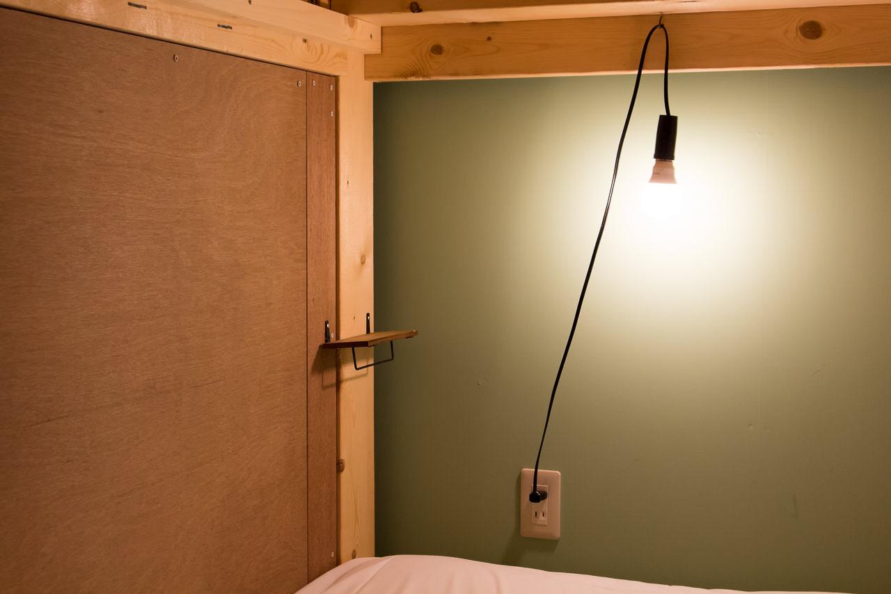 wagayadoベッドの棚