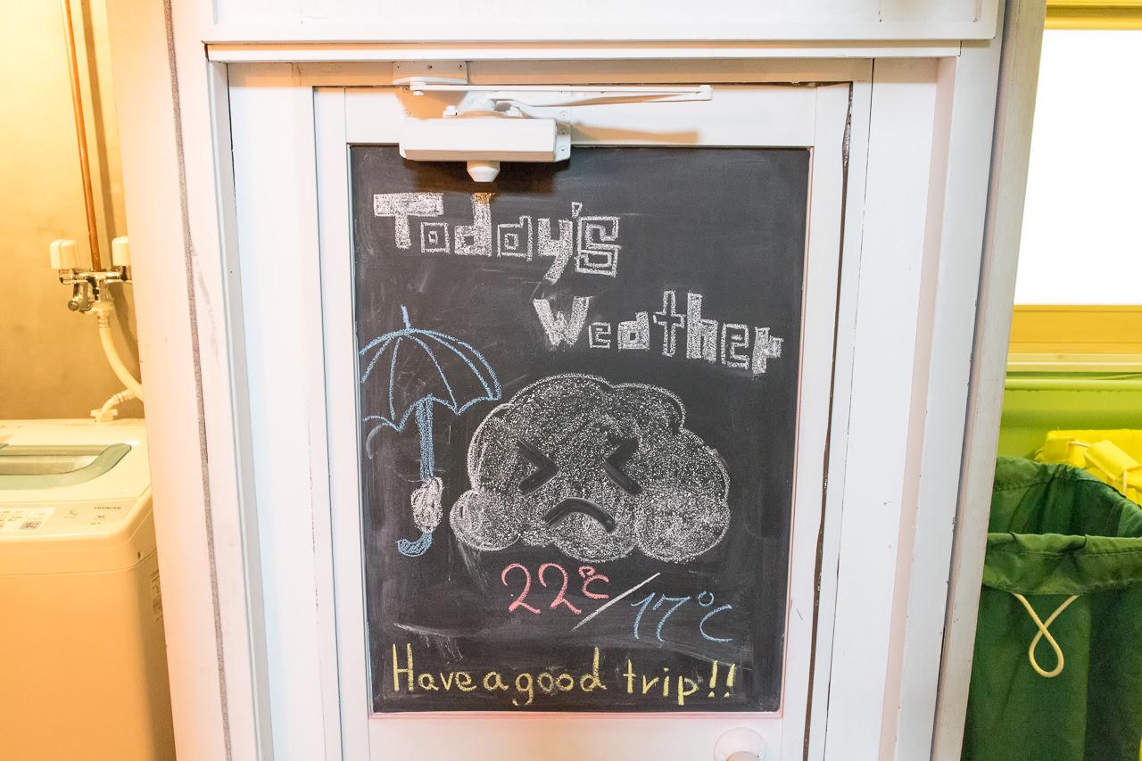 wagayadoお天気ボード
