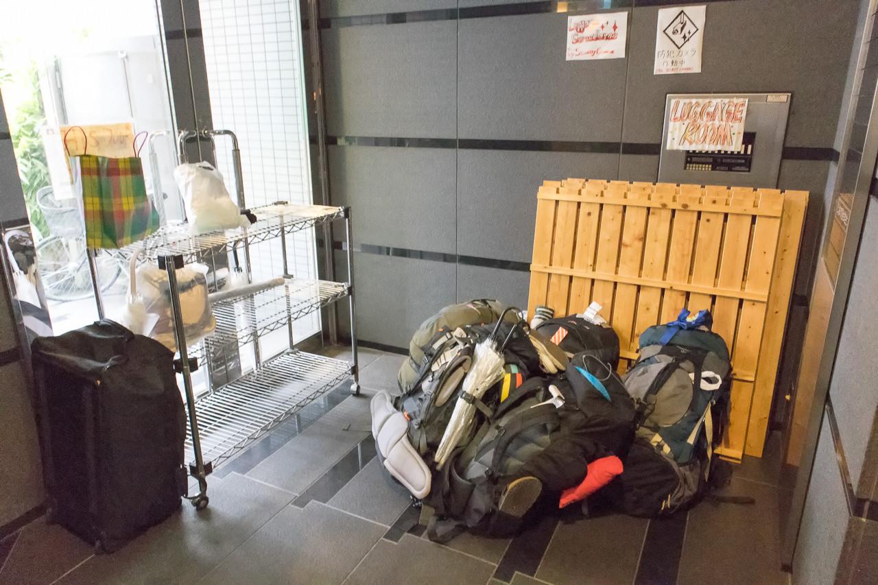 エースイン新宿の荷物置き場
