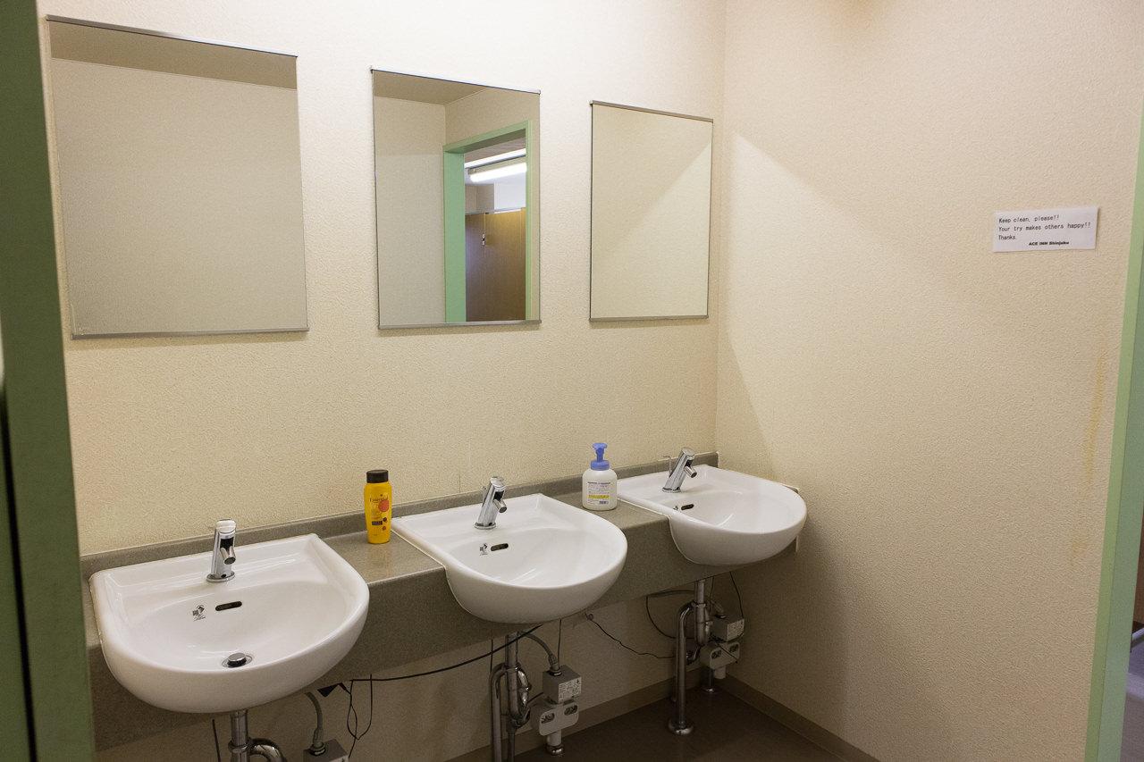 エースイン新宿の洗面所