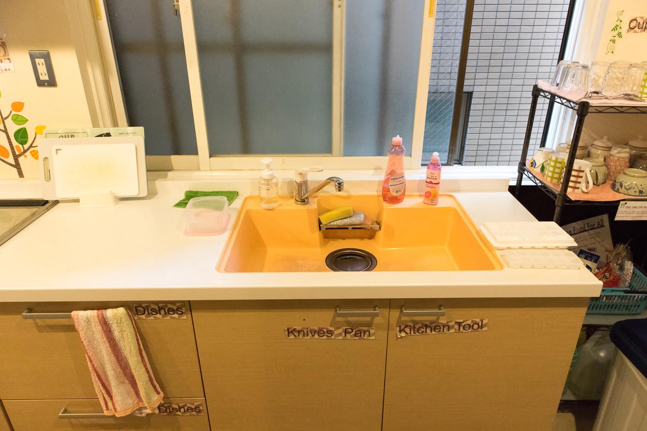 カオサン札幌のキッチンの流し