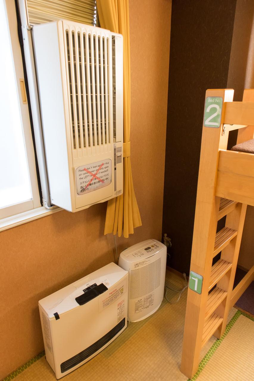 カオサン札幌の部屋のクーラーと暖房