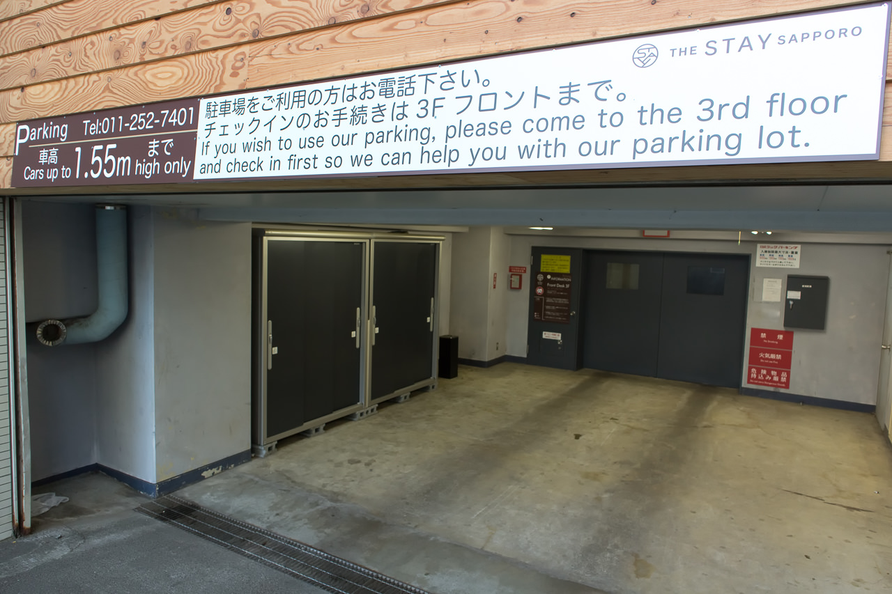 The Stay Sapporoの駐車場