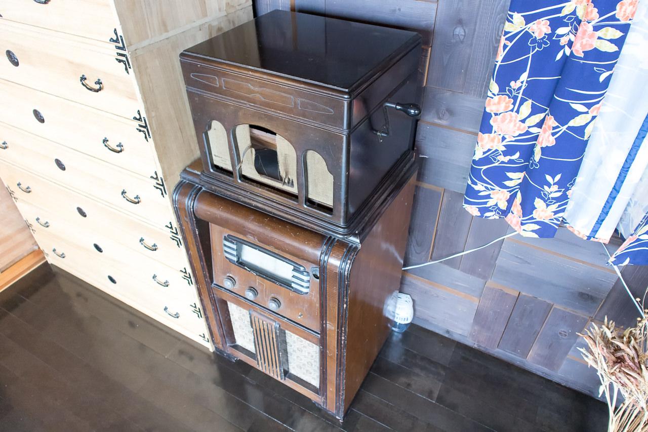 函館山ゲストハウス 蓄音機