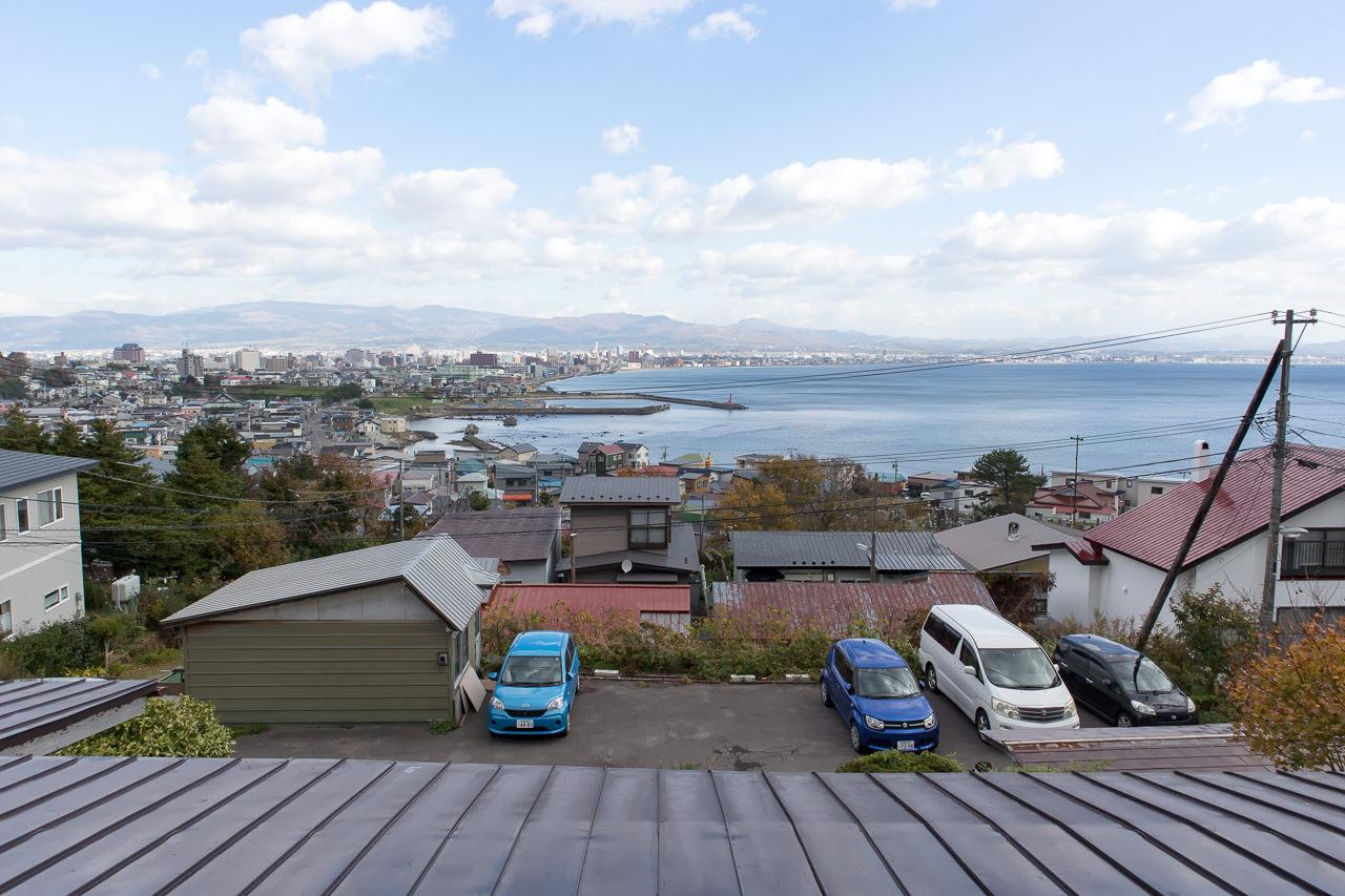 函館山ゲストハウス 部屋からの眺め