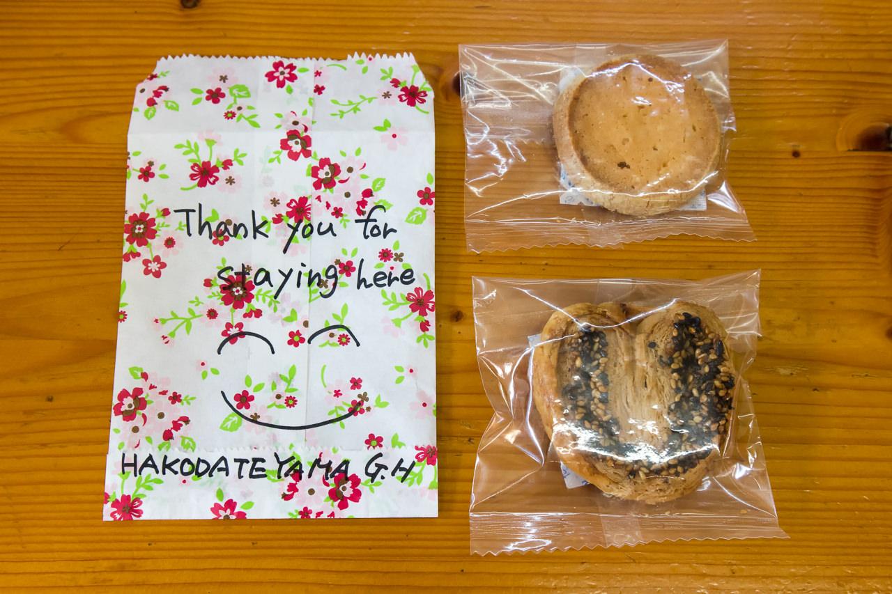 函館山ゲストハウス手作りのクッキー