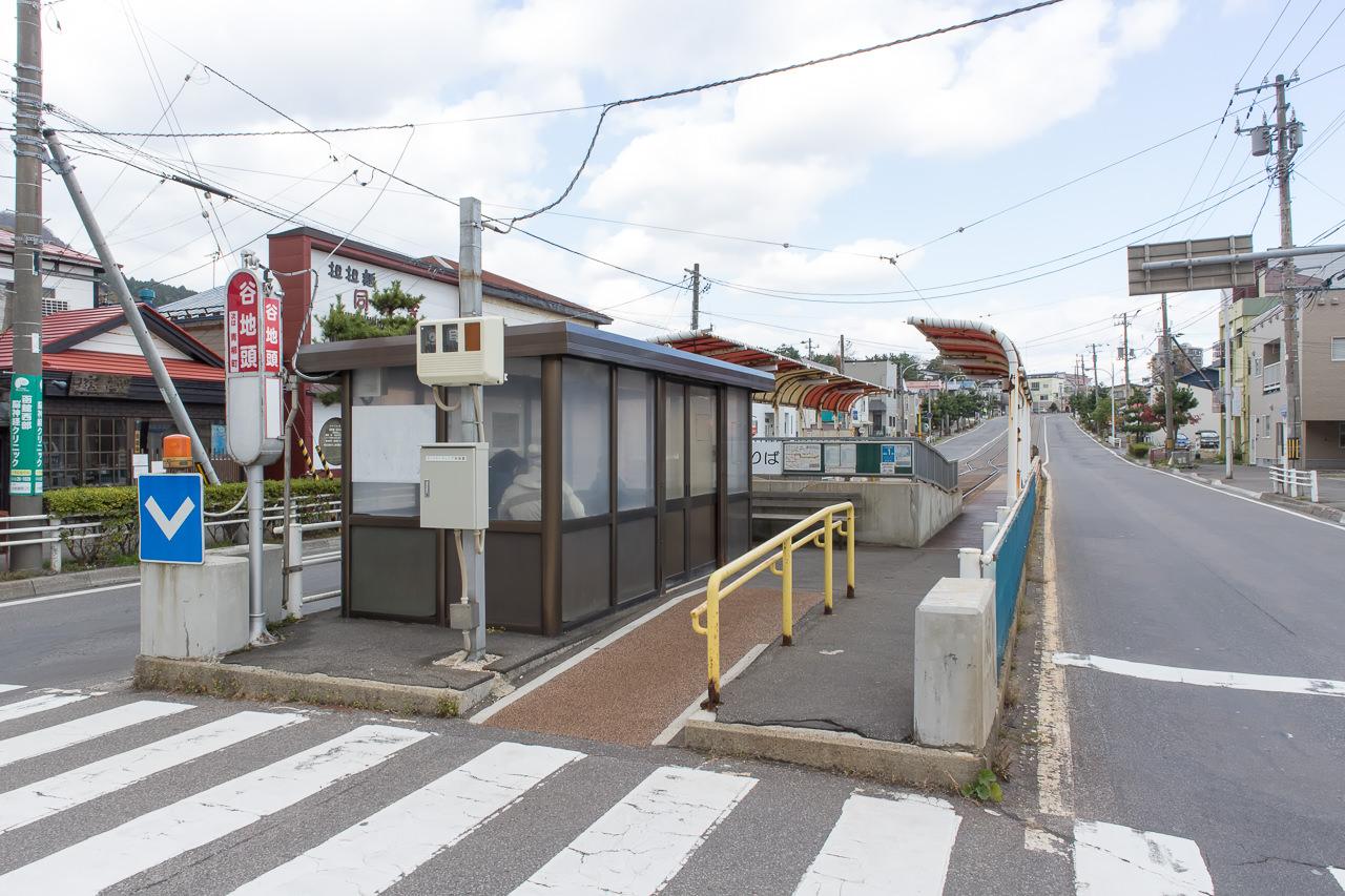 函館市電の終点「谷地頭」停留所
