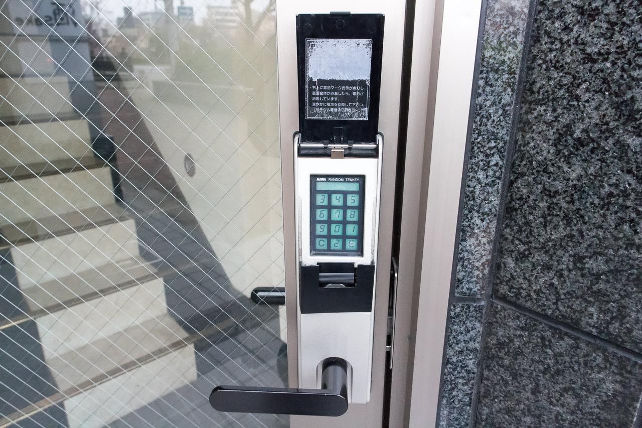 JAM ホステル 京都祇園・入口のセキュリティー