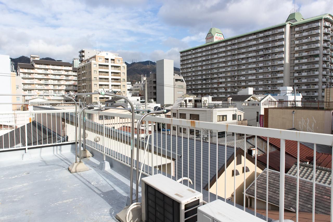 神戸三宮R2ホステル・屋上からの眺め