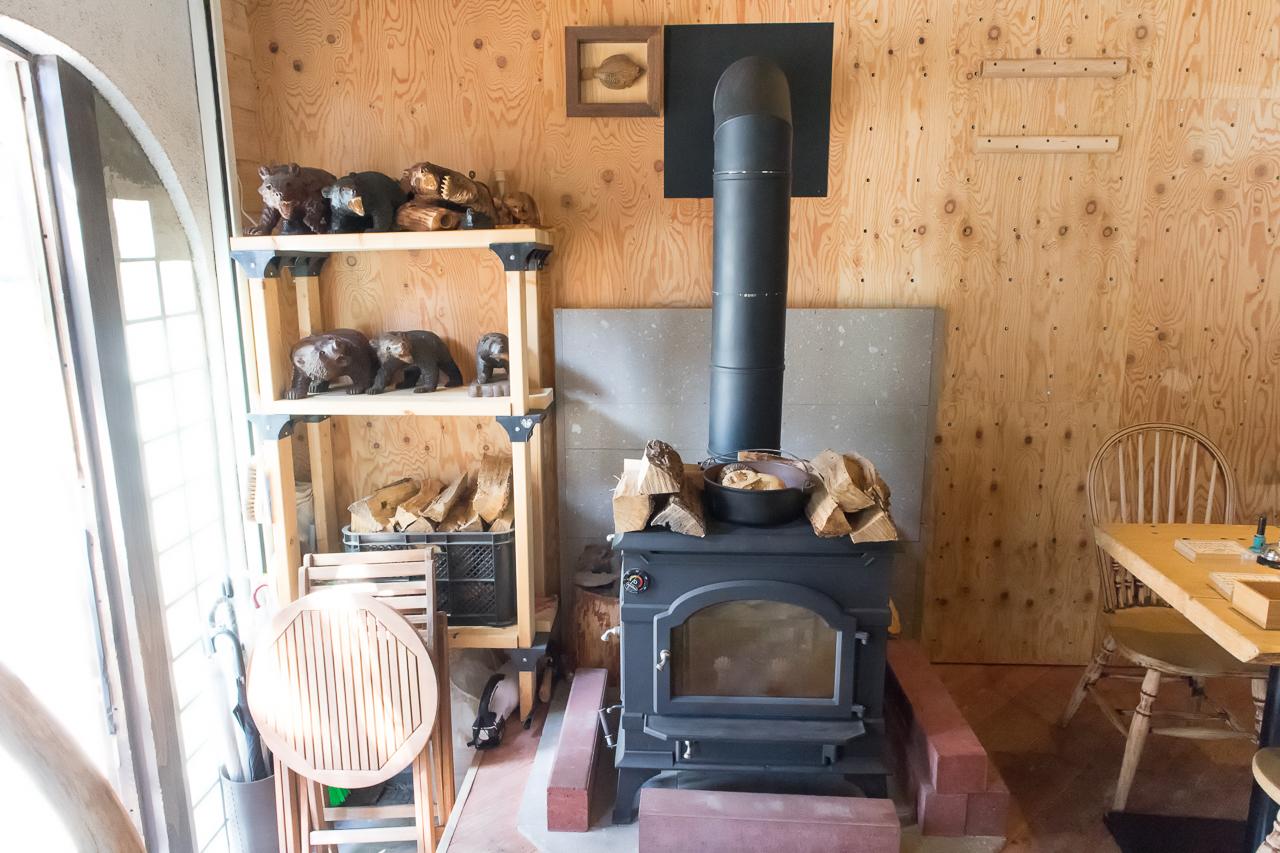 サッポロッジ・暖炉
